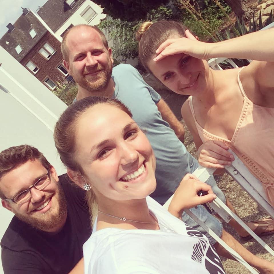 Glitzerstücke Team, Benjamin, Moritz, Nika und Bianca
