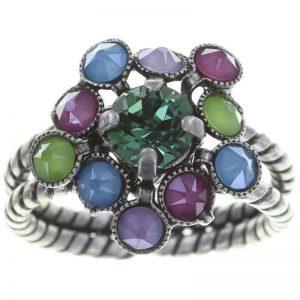 Konplott Caviar Treasure Ring in pastel multi